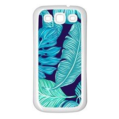 Tropical Greens Leaves Banana Samsung Galaxy S3 Back Case (white)