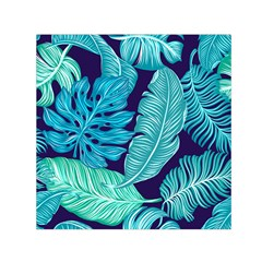 Tropical Greens Leaves Banana Small Satin Scarf (square)