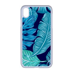 Tropical Greens Leaves Banana Iphone Xr Seamless Case (white)