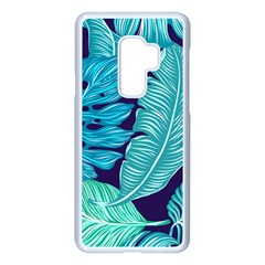 Tropical Greens Leaves Banana Samsung Galaxy S9 Plus Seamless Case(white) by HermanTelo