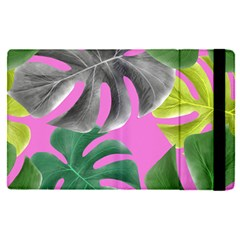 Tropical Greens Pink Leaf Apple Ipad Pro 12 9   Flip Case