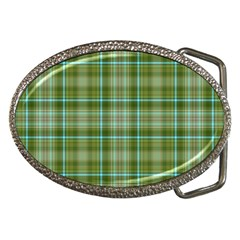 Vintage Green Plaid Belt Buckles