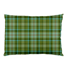 Vintage Green Plaid Pillow Case