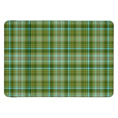 Vintage Green Plaid Samsung Galaxy Tab 8 9  P7300 Flip Case by HermanTelo