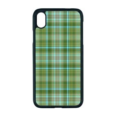 Vintage Green Plaid Iphone Xr Seamless Case (black)