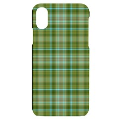 Vintage Green Plaid Iphone X/xs Black Uv Print Case