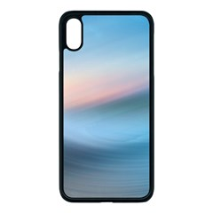 Wave Background Iphone Xs Max Seamless Case (black)