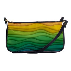 Waves Texture Shoulder Clutch Bag by HermanTelo