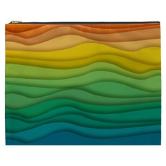 Waves Texture Cosmetic Bag (xxxl) by HermanTelo