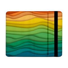 Waves Texture Samsung Galaxy Tab Pro 8 4  Flip Case by HermanTelo