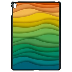Waves Texture Apple Ipad Pro 9 7   Black Seamless Case by HermanTelo