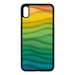 Waves Texture Iphone Xs Max Seamless Case (black)