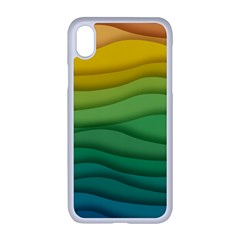 Waves Texture Iphone Xr Seamless Case (white)