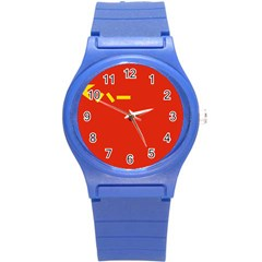 Flag Of People s Liberation Army Round Plastic Sport Watch (s) by abbeyz71