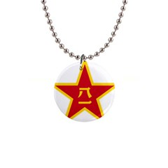 Emblem Of People s Liberation Army  1  Button Necklace by abbeyz71