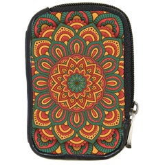 Modern Mandala Design Compact Camera Leather Case by tarastyle