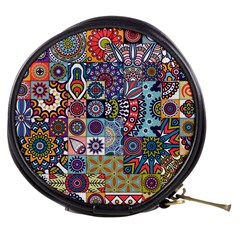 Modern Mandala Design Mini Makeup Bag by tarastyle