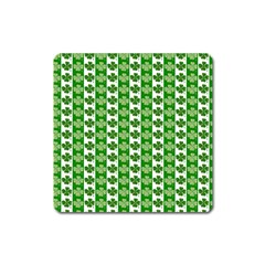 Clover Leaf Shamrock St Patricks Day Square Magnet