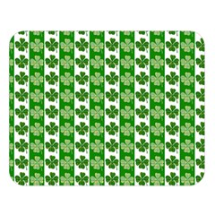 Clover Leaf Shamrock St Patricks Day Double Sided Flano Blanket (large)  by Jojostore