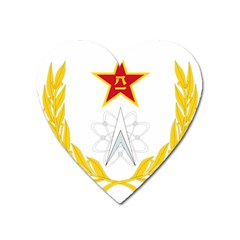 Badge Of People s Liberation Army Strategic Support Force Heart Magnet by abbeyz71