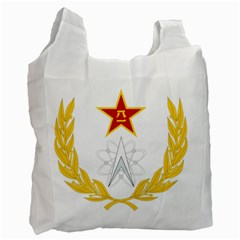 Badge Of People s Liberation Army Strategic Support Force Recycle Bag (two Side) by abbeyz71