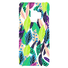 Leaves Rainbow Pattern Nature Samsung S9 Black Uv Print Case by Alisyart