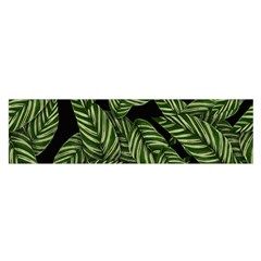 Leaves Painting Black Background Satin Scarf (oblong)