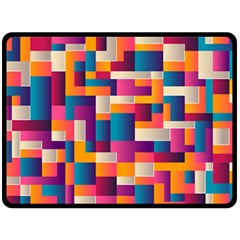 Abstract Geometry Blocks Fleece Blanket (large)  by Bajindul