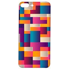 Abstract Geometry Blocks Iphone 7/8 Plus Soft Bumper Uv Case by Bajindul