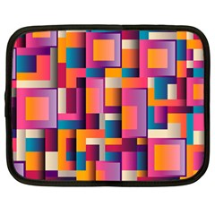 Abstract Background Geometry Blocks Netbook Case (large) by Bajindul