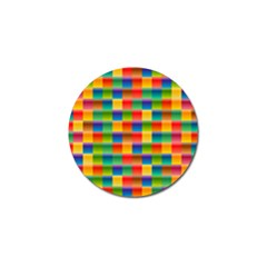 Background Colorful Abstract Golf Ball Marker (4 Pack)