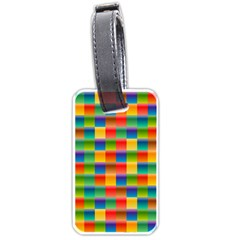 Background Colorful Abstract Luggage Tag (one Side)