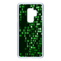 Abstract Plaid Green Samsung Galaxy S9 Plus Seamless Case(white) by Bajindul