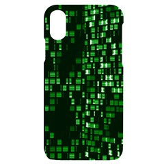 Abstract Plaid Green Iphone X/xs Black Uv Print Case