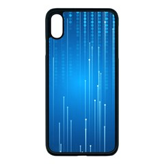 Abstract Rain Space Iphone Xs Max Seamless Case (black)