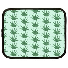 Aloe Plants Pattern Scrapbook Netbook Case (xl) by Bajindul
