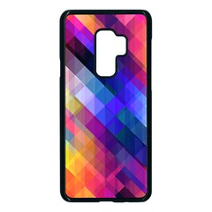 Abstract Background Colorful Pattern Samsung Galaxy S9 Plus Seamless Case(black)