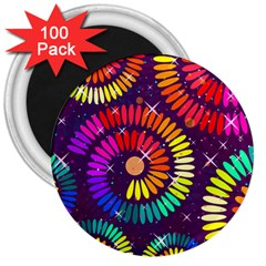 Abstract Background Spiral Colorful 3  Magnets (100 Pack) by Bajindul