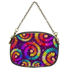 Abstract Background Spiral Colorful Chain Purse (two Sides) by Bajindul