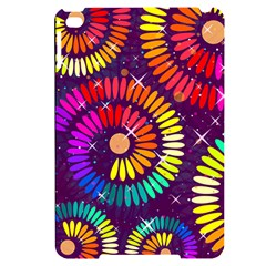 Abstract Background Spiral Colorful Apple Ipad Mini 4 Black Uv Print Case by Bajindul