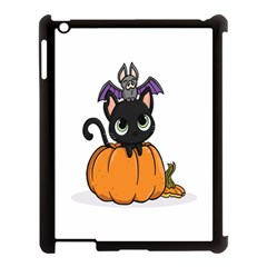 Halloween Cute Cat Apple Ipad 3/4 Case (black) by Bajindul