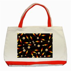 Flower Buds Floral Background Classic Tote Bag (red)