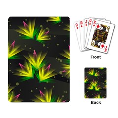 Floral Abstract Lines Playing Cards Single Design