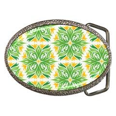 Green Pattern Retro Wallpaper Belt Buckles