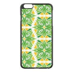 Green Pattern Retro Wallpaper Iphone 6 Plus/6s Plus Black Enamel Case by Bajindul