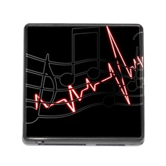 Music Wallpaper Heartbeat Melody Memory Card Reader (square 5 Slot) by Bajindul