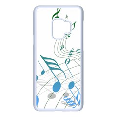 Music Notes Samsung Galaxy S9 Seamless Case(white) by Bajindul