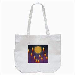 Night Moon Flora Background Tote Bag (white) by Bajindul