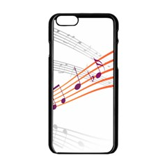 Music Notes Clef Sound Iphone 6/6s Black Enamel Case by Bajindul