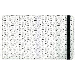 Music Notes Background Wallpaper Apple Ipad 2 Flip Case by Bajindul